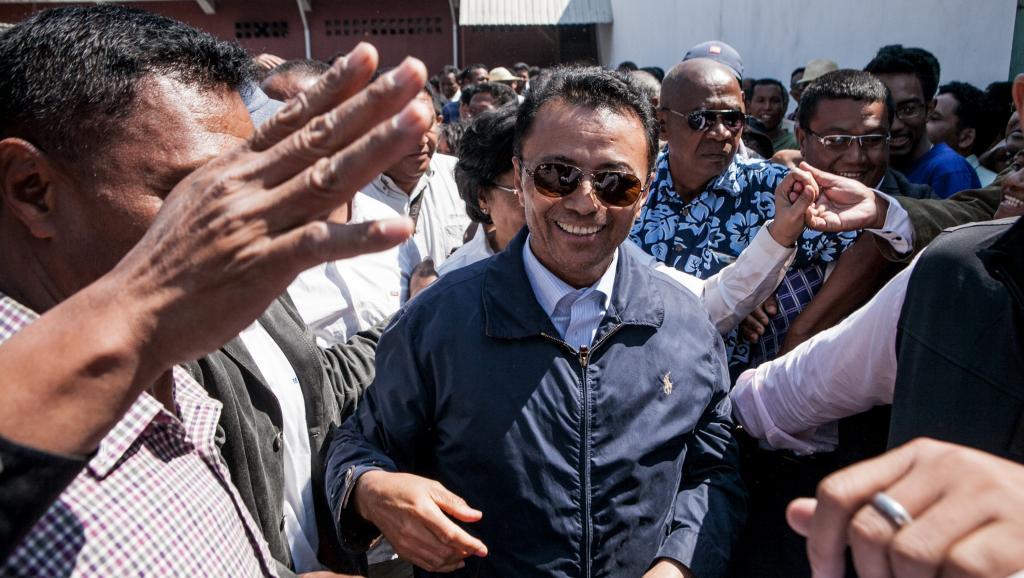L'ex-président Marc Ravalomanana lors de son retour à Madagascar, le 13 octobre 2014, après 5 années d'exil en Afrique du Sud.