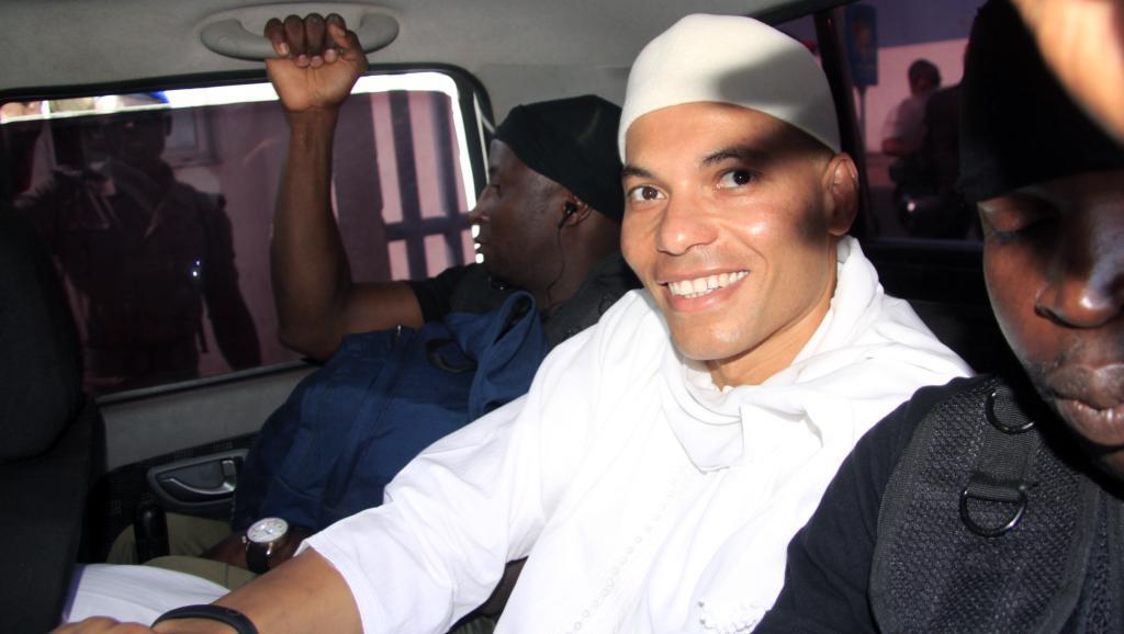 Karim Wade, le fils de l'ex-président sénégalais, est jugé pour enrichissement illicite. AFP PHOTO / STRINGER