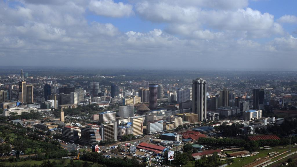 Nairobi, la capitale du Kenya. AFP PHOTO / SIMON MAINA