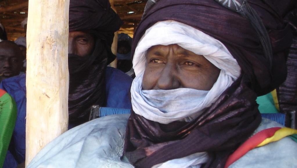 Aroudeiny Ag Hamatou, maire de la commune d'Aderanboukane, en 2005. RFI/Christine Muratet