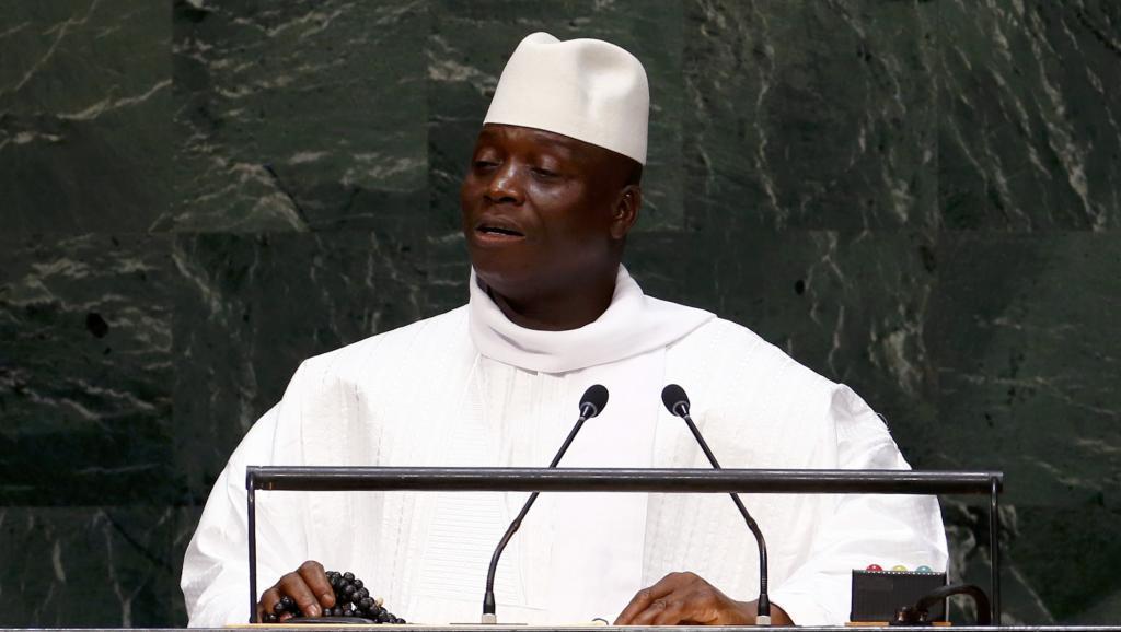 Yahya Jammeh, le président gambien, à la tribune des Nations unies, en septembre 2014. Reuters/Lucas Jackson