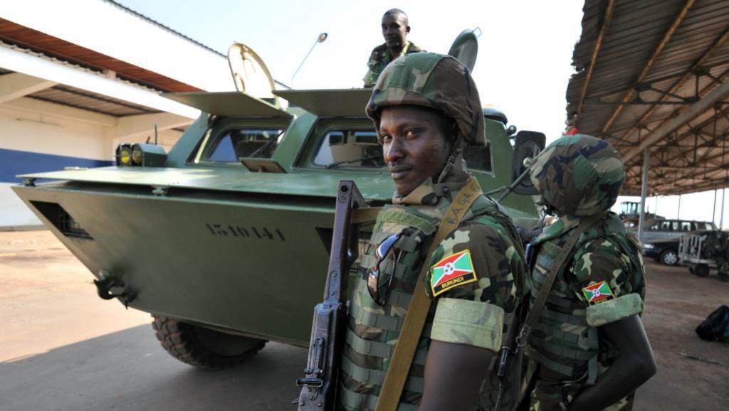 Eléments de l'armée burundaise. AFP PHOTO / SIA KAMBOU