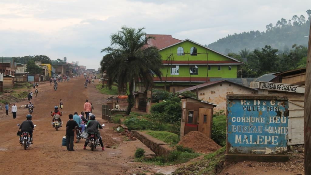 Les populations de la ville de Béni -ici en octobre 2014-et de sa région sont les proies d'exactions répétées