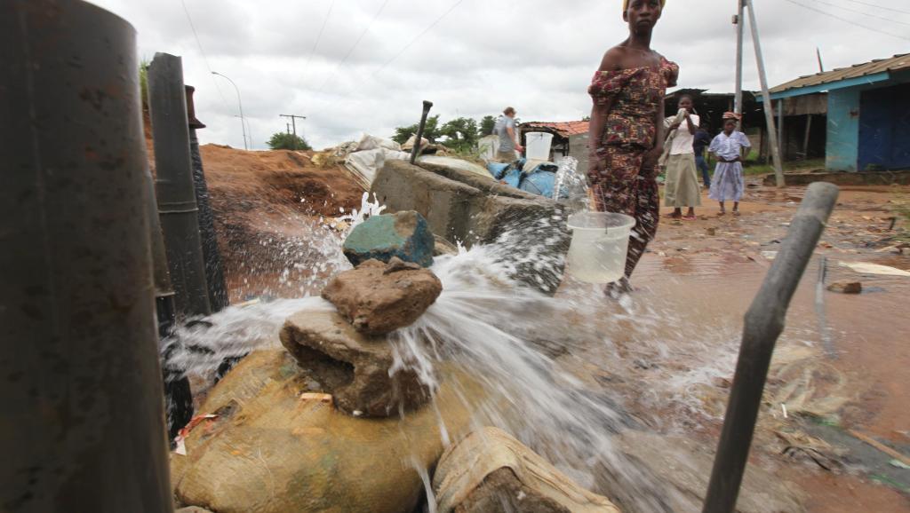 Un quartier de Yopougon à Abidjan, le 9 mai 2011. Reuters/Thierry Gouegnon