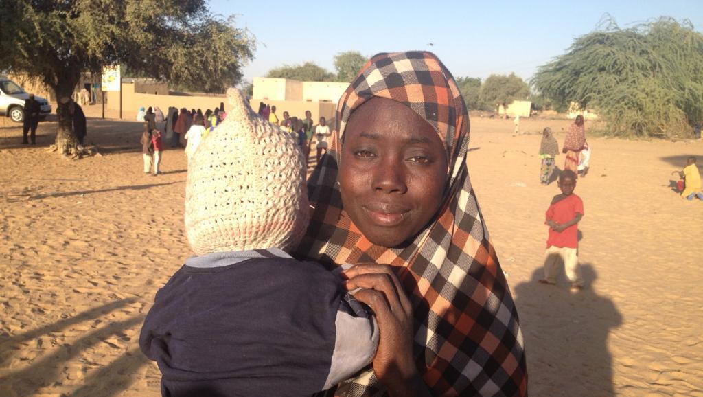 Rukaya a été capturée avec ses deux enfants, dont un nourrisson de neuf mois. RFI/ Nicolas Champeaux