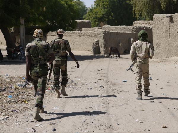 Le dispositif Ingar a renforcé les effectifs militaires à la frontière sud du Niger. RFI/ Nicolas Champeaux