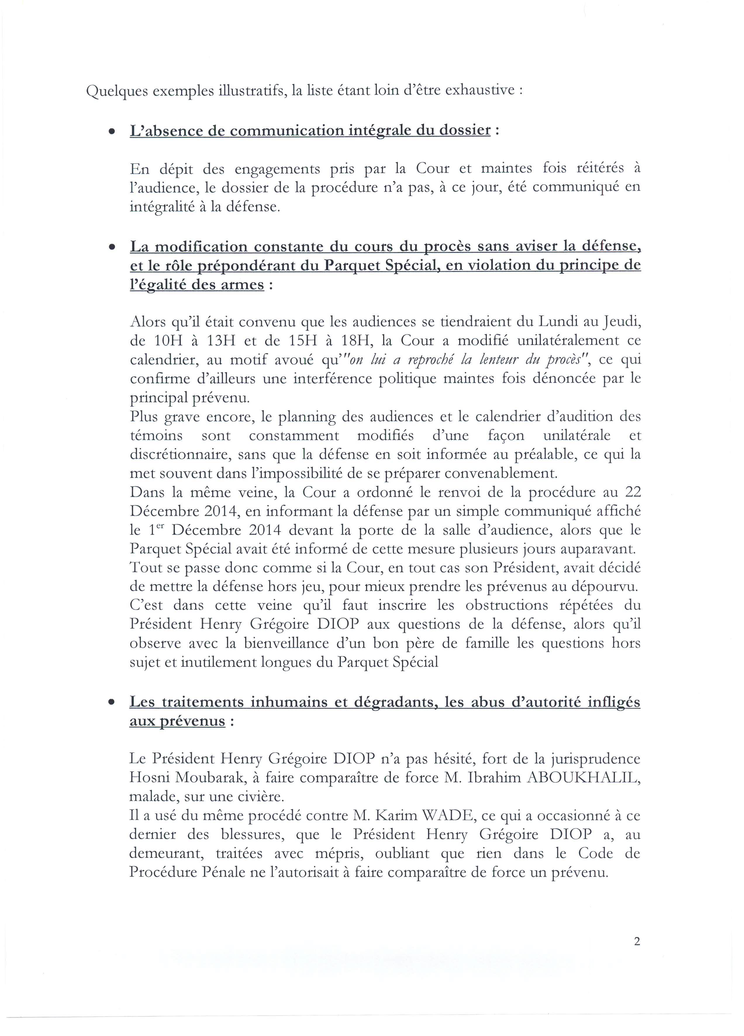 PUBLIREPORTAGE - Communiqué des avocats de Karim Wade