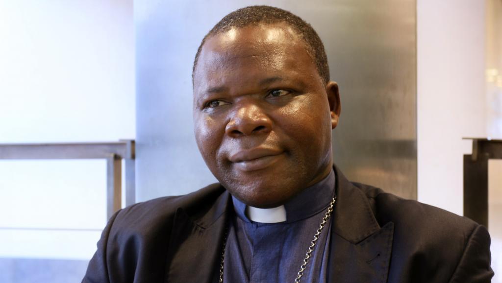 L'archevêque de Bangui, Dieudonné Nzapalainga, l'un des artisans de la libération de Claudia Priest. RFI/Sébastien Bonijol