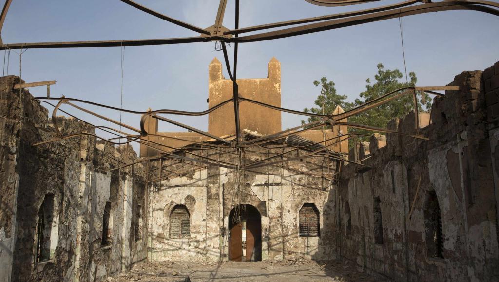 La capitale Niamey a aussi connu des violences la semaine dernière. Ici, une église évangélique ravagée par un incendie. REUTERS/Joe Penney