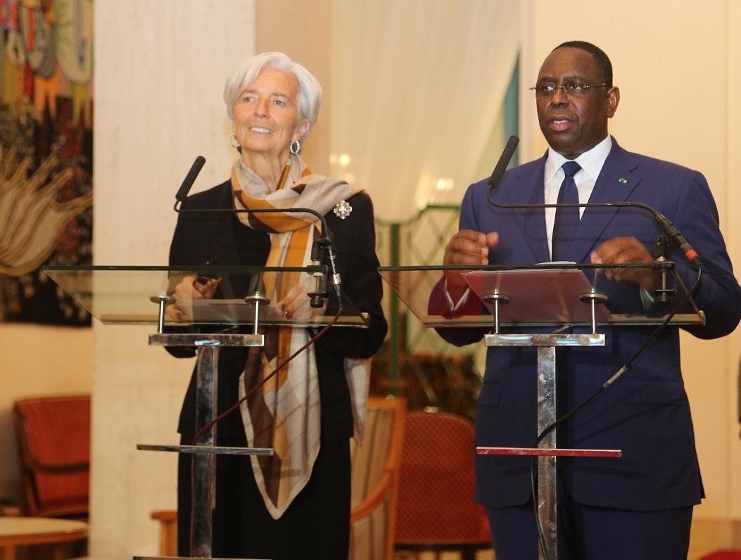 """Publi-reportage - FMI : """"le Fonds monétaire international va travailler à la réussite du PSE, qui demeure ambitieux"""" Lagarde"""