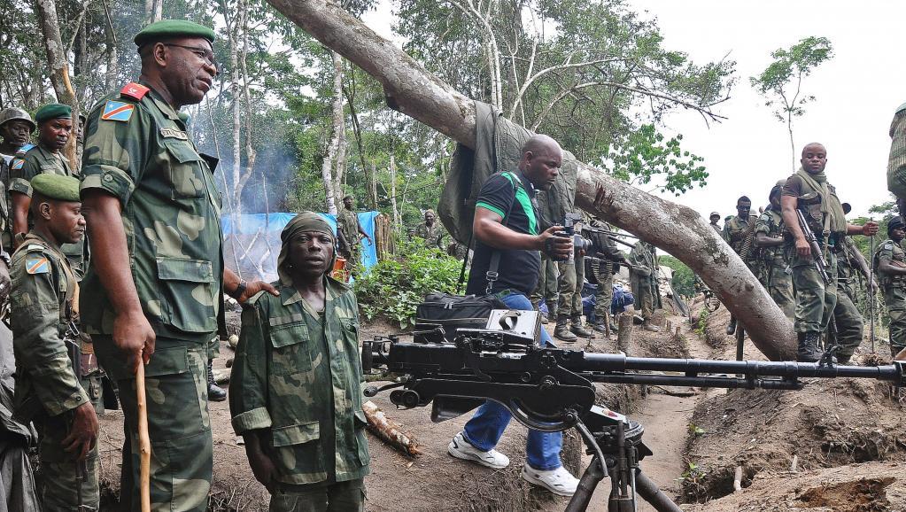 Des membres des FARDC dans le Nord-Kivu, en mai 2014. AFP PHOTO/STRINGER