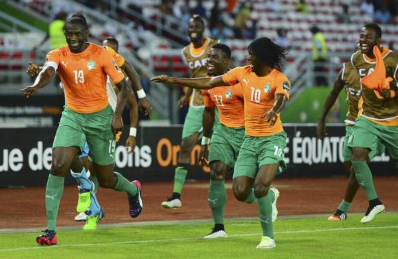 """CAN 2015 1/2 RDC 1-3 Côte d'Ivoire: les """"Eléphants"""" en finale, ils attendent le Ghana ou la Guinée Equatoriale"""