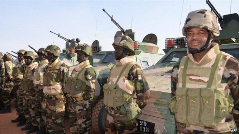 Les troupes nigériennes