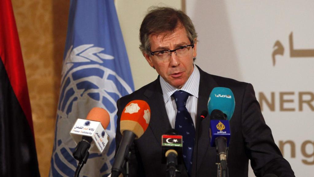 Le chef de la mission de l'ONU pour la Libye Bernardino Leon, le 2 février 2015 à Tripoli. REUTERS/Ismail Zitouny