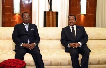 Idriss Déby et Paul Biya à Yaoundé (photo d'archive)