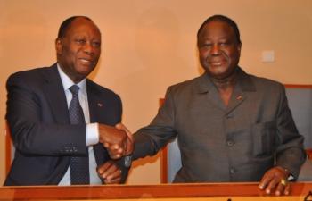 """CI/ élections : Alassane Ouattara souhaite le congrès d'investiture du RHDP pour se """"lancer dans (sa) campagne"""""""