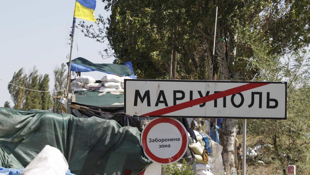 Marioupol, ville de 500 000 habitants, est un port stratégique du sud-est toujours contrôlé par l'Ukraine. REUTERS/Vasily Fedosenko