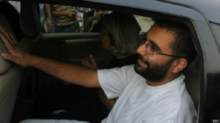 L'opposant et blogueur, Alaa Abdel Fattah, a été emprisonné l'an dernier pour infraction à la législation sur les manifestations politiques