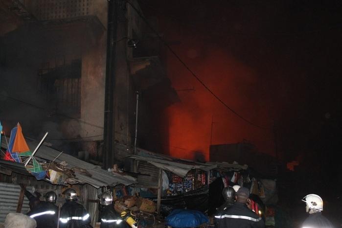 Photo archive incendie marché Sandaga