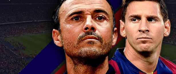 Luis Enrique -Fc Barcelone- : fier de son équipe mais ulcéré par Messi !!!