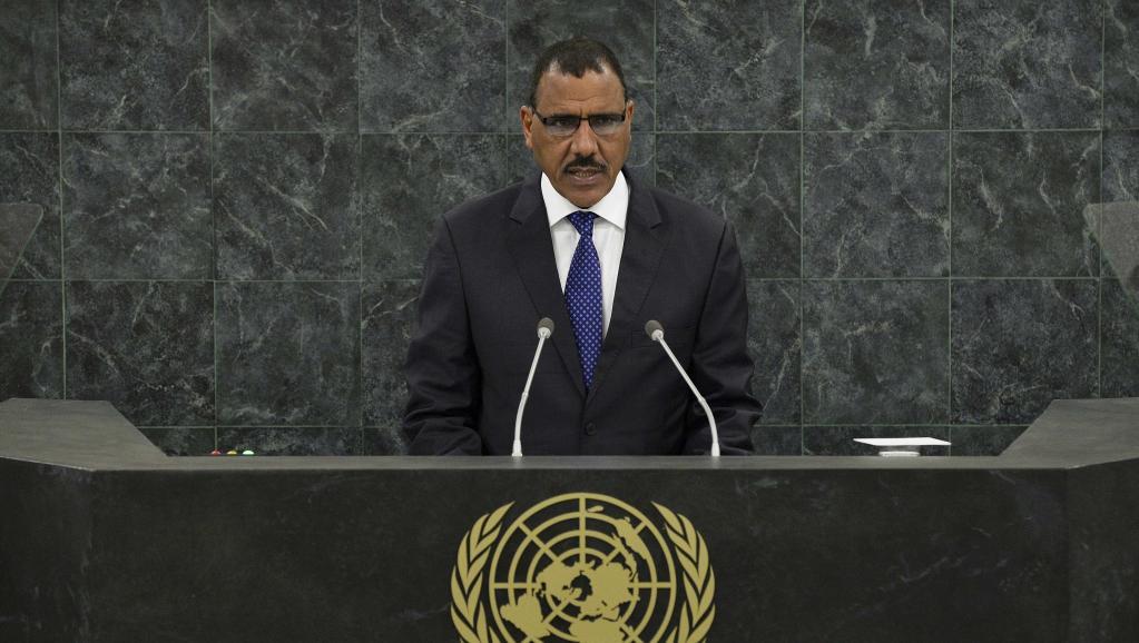 Le ministre des Affaires étrangères nigérien Mohamed Bazoum, lors d'une allocution aux Nations unies le 27 septembre dernier. Eduardo Munoz
