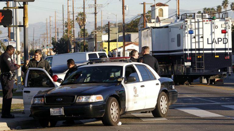 La police de Los Angeles s'était rendue dans le quartier de Skid Row pour répondre à une alerte à un cambriolage.
