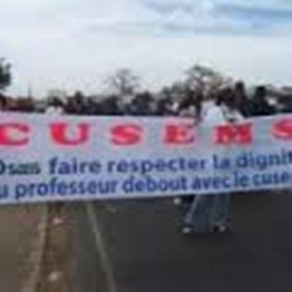 Jeudi de grève : Après le Grand cadre et le SAES, le CUSEMS déroule son plan d'action