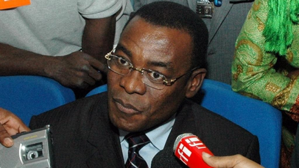 Pascal Affi Nguessan, ex-directeur de campagne de Laurent Gbagbo et président du FPI. AFP PHOTO/ERICK-CHRISTIAN AHOUNOU