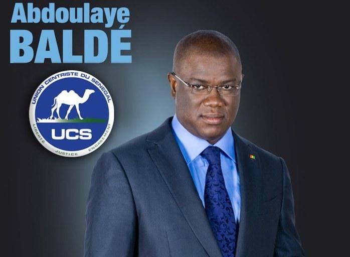 Abdoulaye Baldé en route vers le Palais.