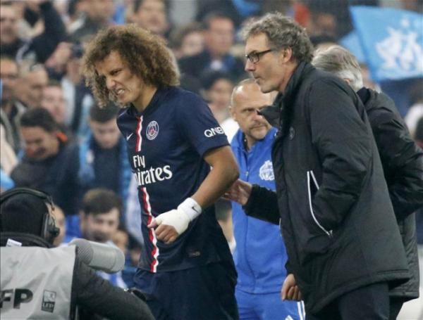 David Luiz, la blessure qui tombe mal avant PSG-Barça