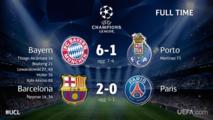 Ligue des Champions: Barça et Bayern en 1/2