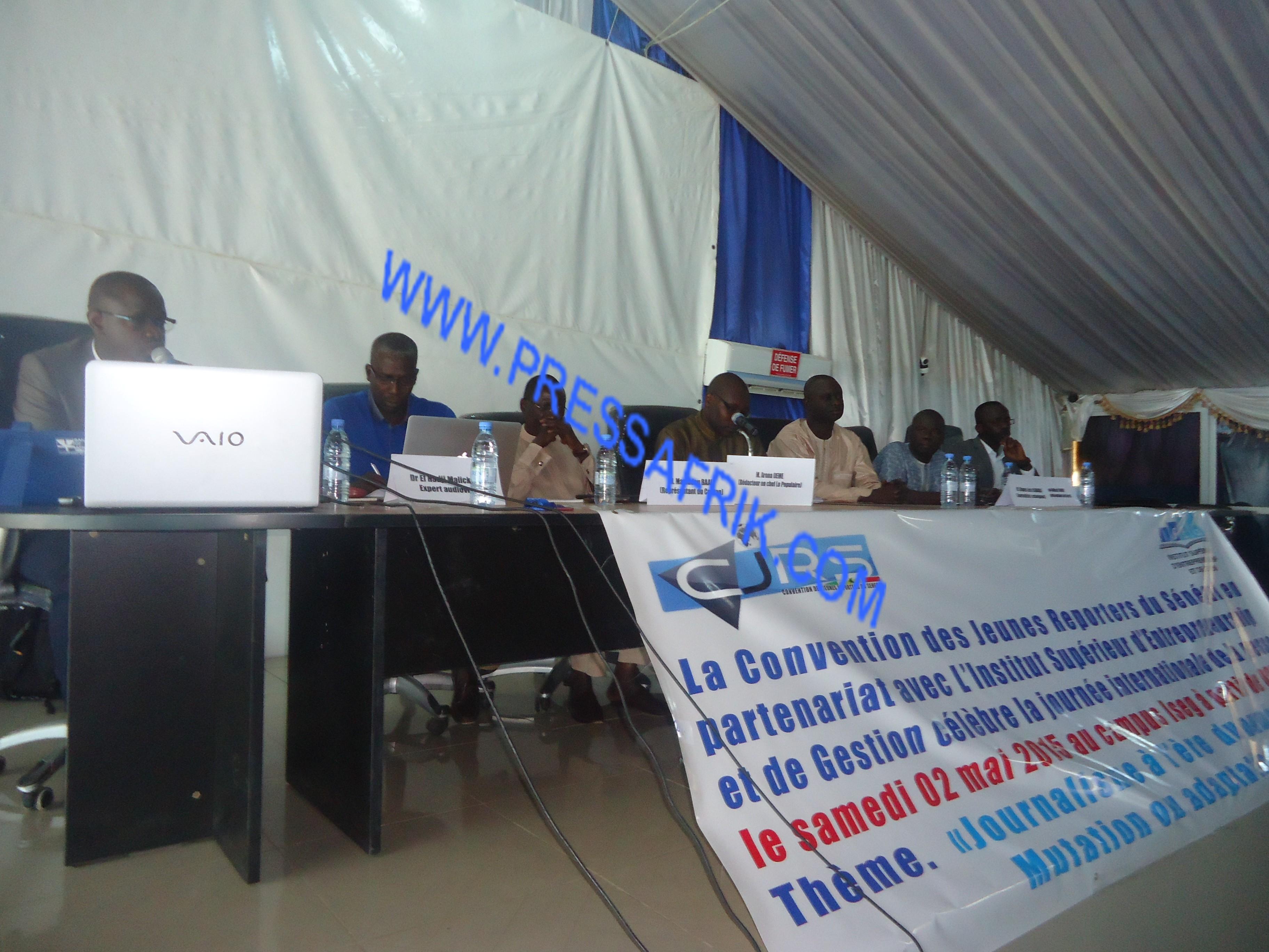 La Convention des jeunes reporters du Sénégal (Cjrs) en partenariat avec l'ISEG. PHOTO/Ibrahima Mansaly
