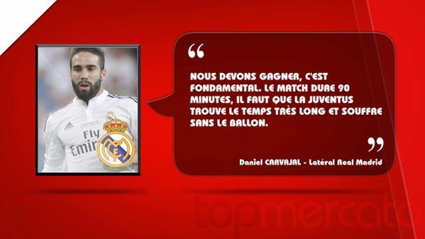 """Real Madrid: """"Il faut que Juventus trouve le temps très long"""", Carvajal"""