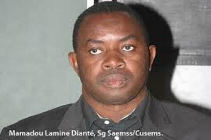 """Mamadou Lamine Dianté : """"l'année scolaire n'est pas complètement sauvée""""."""