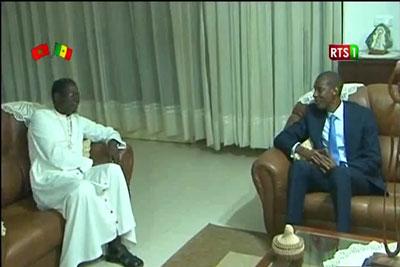 Abdoulaye Daouda Diallo chez le nouvel Archevêque de Dakar