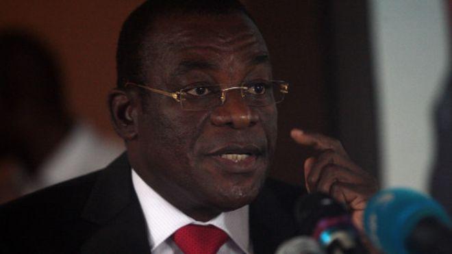 """""""Je suis d'accord pour être le candidat du FPI à la présidentielle d'octobre"""", a dit Pascal Affi N'Guessan."""