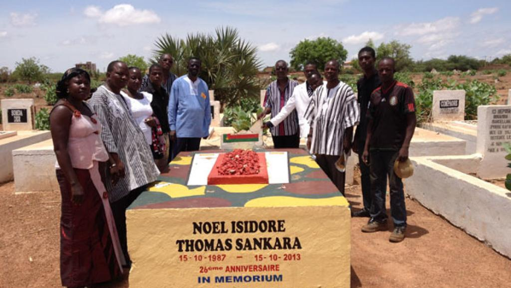 La tombe supposée de Thomas Sankara à Ouagadougou. RFI/Sébastien Nemeth