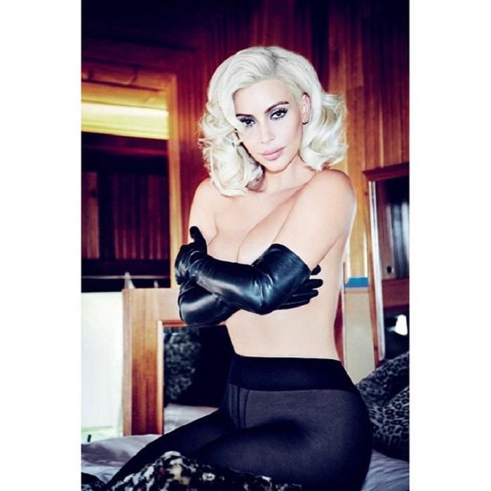 PHOTOS. Kim Kardashian topless façon Marilyn Monroe dans le Vogue brésilien