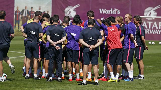 L'équipe pendant l'entrainement