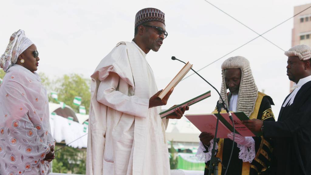 Muhammadu Buhari lors de sa prestation de serment, le 29 mai 2015 à Abuja. REUTERS/Afolabi Sotunde