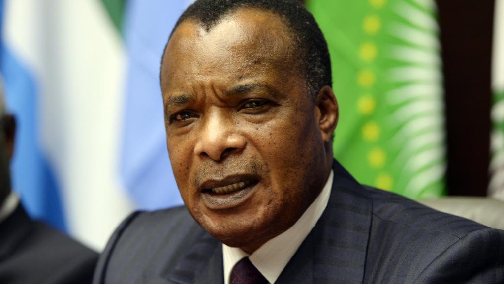 Denis Sassou-Nguesso, ici à Bruxelles le 3 mars 2015, s'est prononcé plusieurs fois en faveur d'une réforme constituionnelle. AFP PHOTO / THIERRY CHARLIER