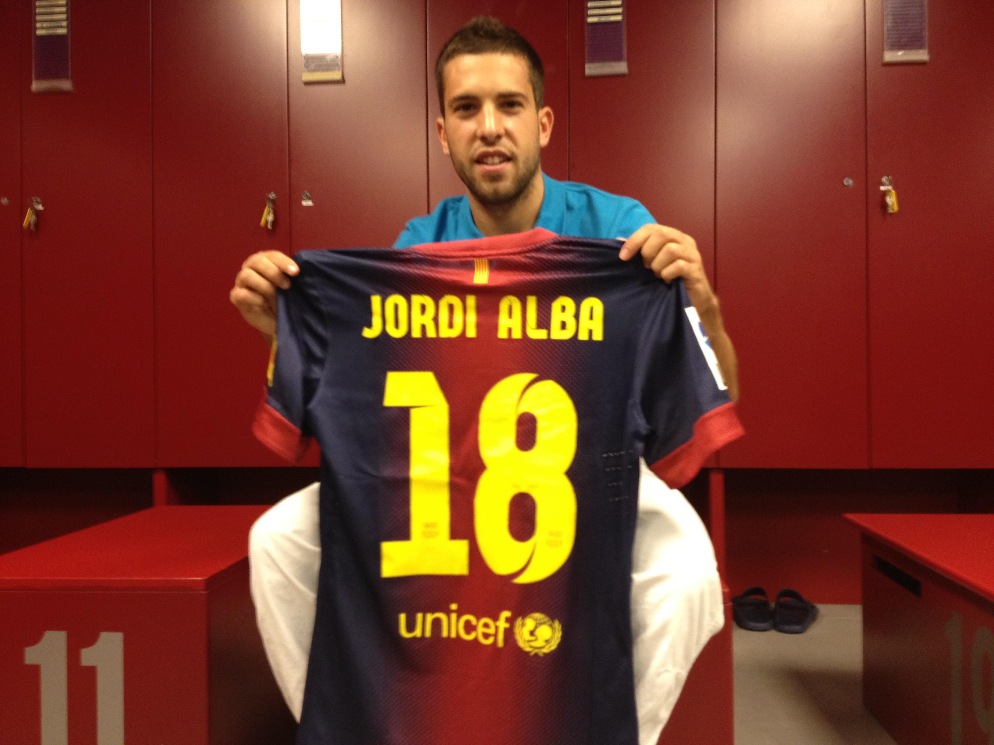 Barcelone : Jordi Alba prolonge jusqu'en 2020.