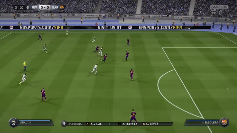Juventus vs Barça : FIFA 15 annonce une victoire 3-0 des Turinois !