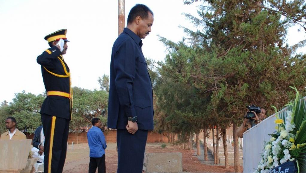 Issaias Afeworki, président de l'Erythrée. AFP PHOTO / PETER MARTELL