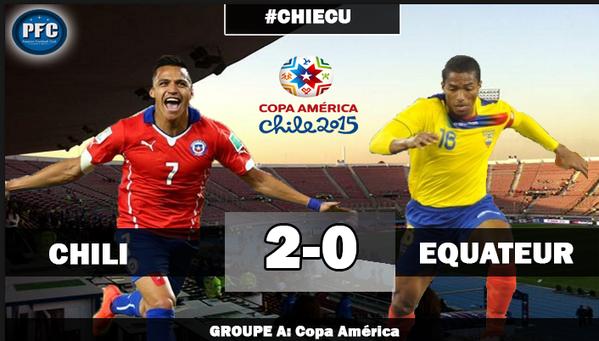 Copa America : le Chili de Vidal débute bien