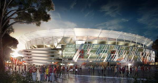 L'AS Rome dévoile son nouveau stade