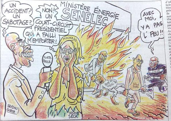 Le réaménagement du gouvernement vu par le caricaturiste Odia