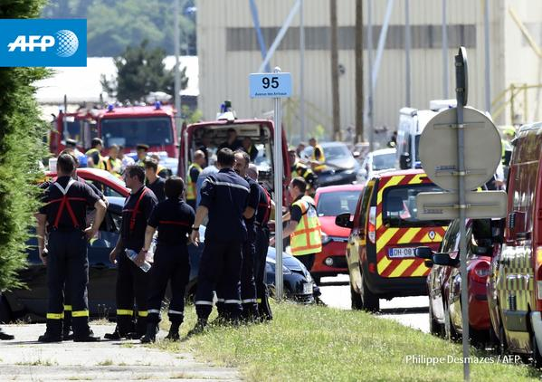 Attentat dans une usine en France: un mort, un suspect arrêté