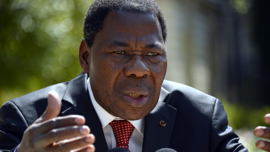 Les logos du parti qui soutient le président béninois Boni Yayi étaient absents des bulletins dans certains arrondissements. AFP PHOTO / BERTRAND GUAY