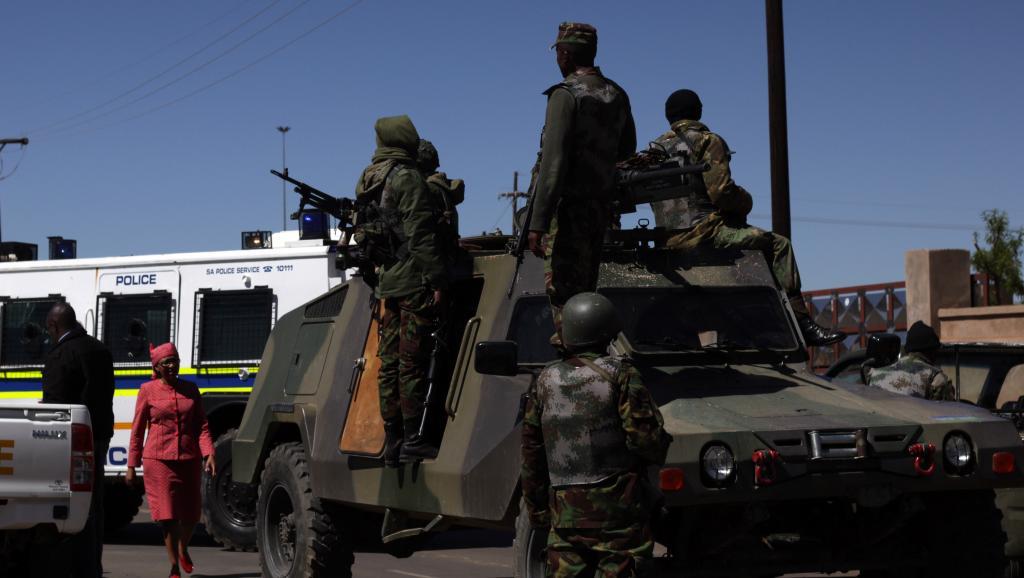 Au Lesotho, le climat sécuritaire s'est fortement détérioré en juin 2015. AFP PHOTO/HLOMPHO LETSIELO